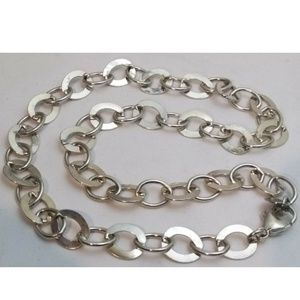 """Jewelry - 18"""" Sterling Silver 10.4mm Oval Flat Link Necklace"""